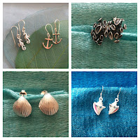 Seaside inspired collection of beautiful sterling silver earrings.