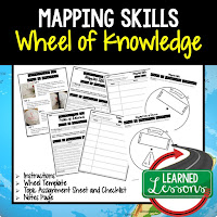 Mapping Skills Activity, World Geography Activity, World Geography Interactive Notebook, World Geography Wheel of Knowledge (Interactive Notebook)