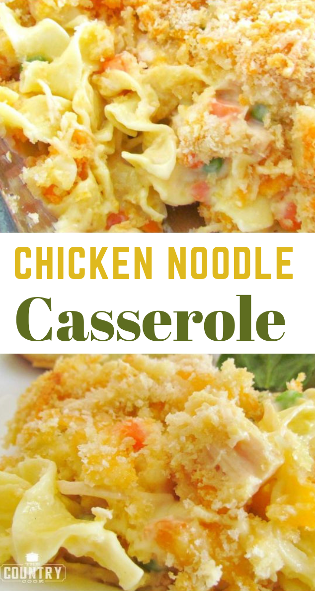 Chicken Noodle Casserole #dinner #noodle