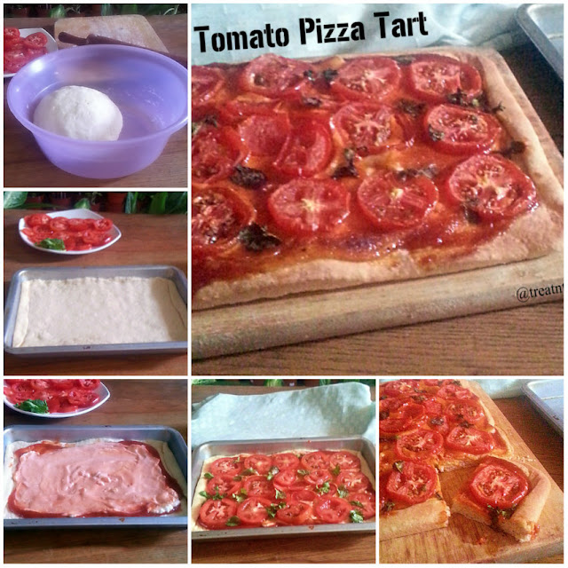 Tomato Pizza Tart Recipe @ treatntrick.blogspot.com