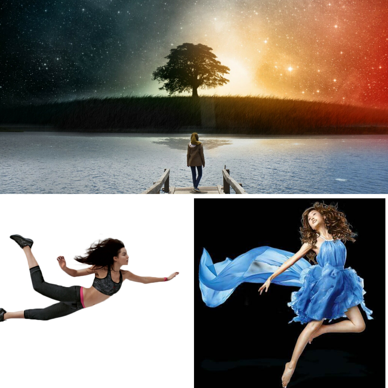 Cara Membuat Line Art Foto Galaxy Sky Dengan Picsart