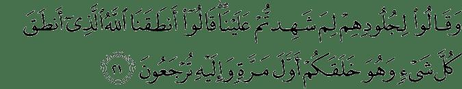 Surat Fushshilat ayat 21