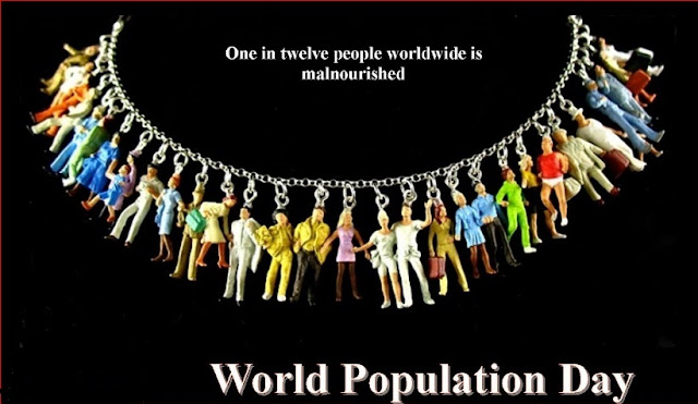 world population day poster with slogan