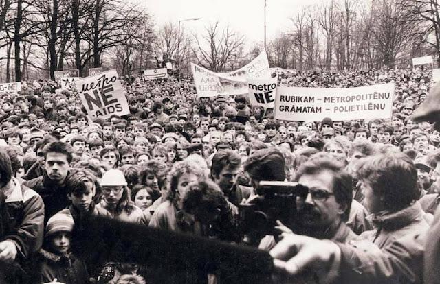 27 апреля 1988 года в Рижском парке Аркадия прошел массовый митинг против строительства метро в Риге