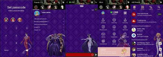 Download Tema Line Anime Overlord