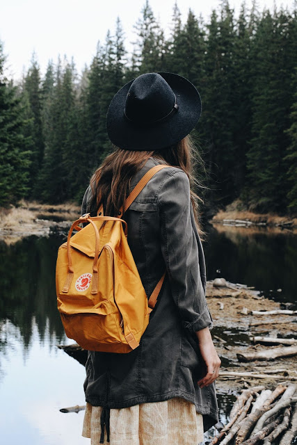Traveler enjoying the Natures Gift