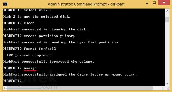 CMD assign disk