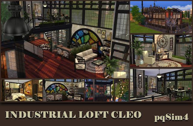 Industrial Loft Cleo. Sims 4 CC.