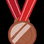 オリンピックのイラスト「銅メダル」