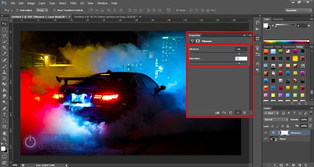 Photoshop Resmin Renklerini Canlandırma Vibrance