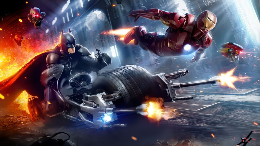 Batman, Iron Man, DC, Marvel, Superheroes, 4K, #6.1201
