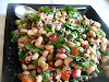 Turkish Black-Eyed Pea Salad with Pomegranate, Walnuts and Dukka Dressing