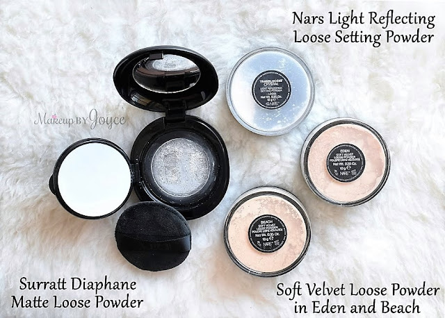 Nars Light Reflecting Loose Setting Powder Soft Velvet Eden Beach Comparison Review