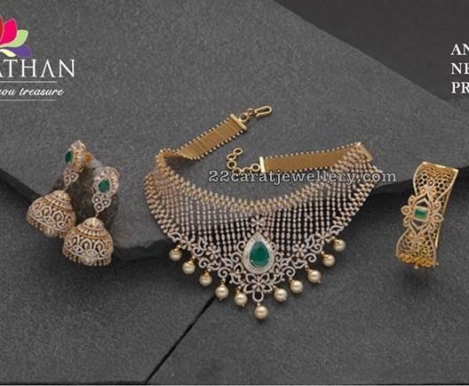 Diamond Choker Bangle by Navrathan Jewellers
