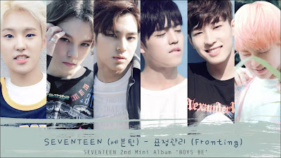 Song Lyrics SEVENTEEN - Fronting (표정관리)