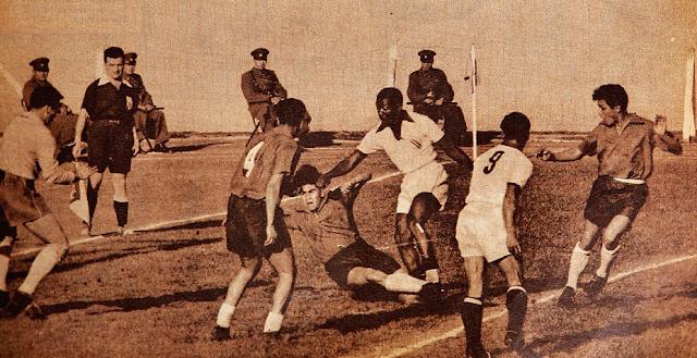 Chile y Perú en Copa del Pacífico 1954, partido de ida