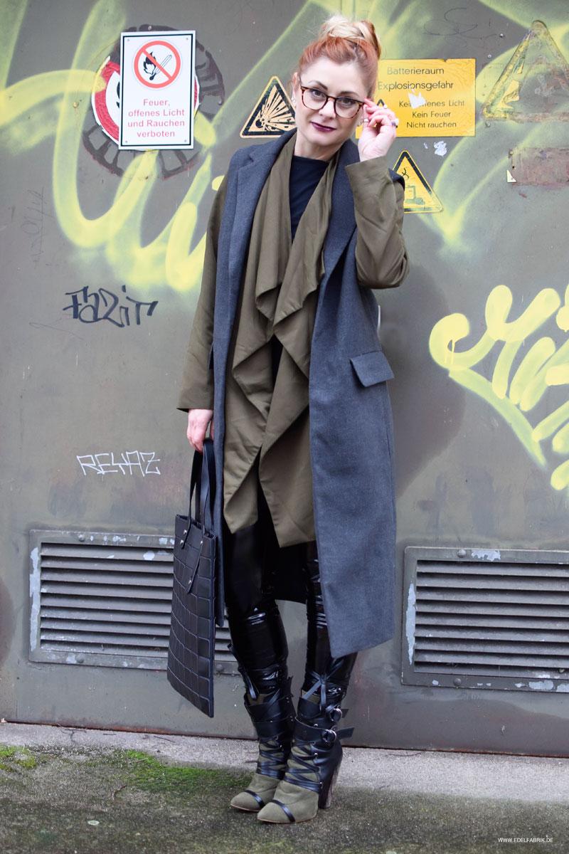 schwarzes Lackleder, Modeblog, Stylingtipps