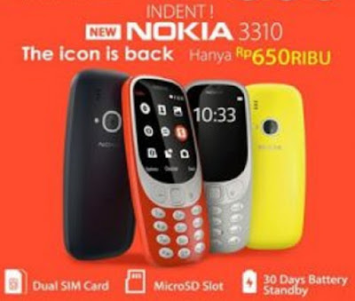 Nokia 3310 Reborn Bisa Dibeli di Indonsia