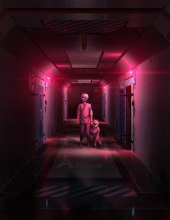 Utrzymany w mrocznej stylistyce plakat promujący anime Charlotte
