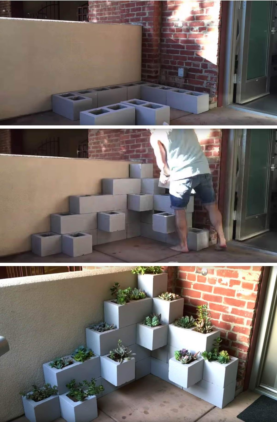 3STUNN%257E2 25 Stunning Planter Concrete Blocks Alternatives to Transform Your Backyard And That Are All Your Front Porch Needs Interior