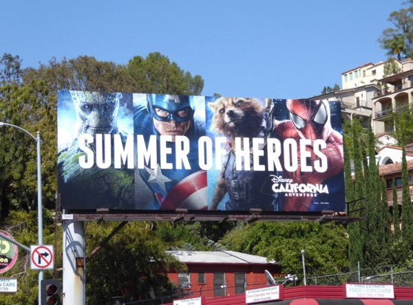 Summer of Heroes Disney billboard
