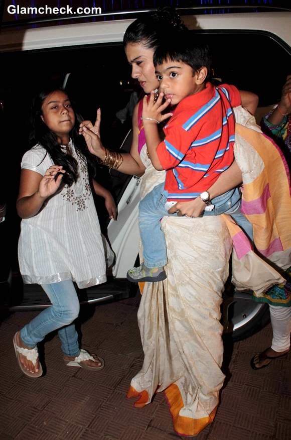 Kajol Son & Daughter's Pics