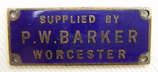 P W Barker Ltd enamel plaque