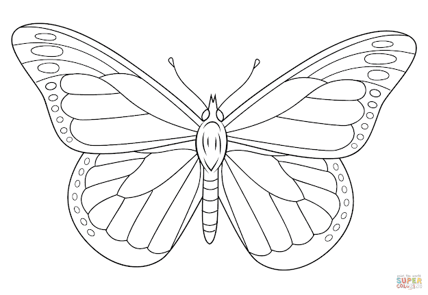 Click The Monarch Butterfly Coloring Pages