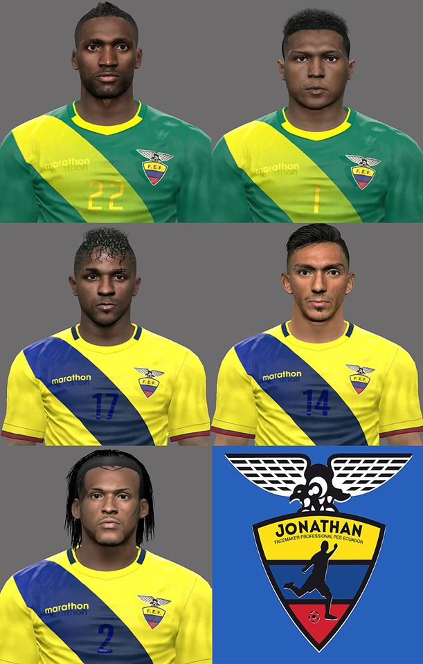 PES 2017 Ecuador Facepack by Jonathan facemaker