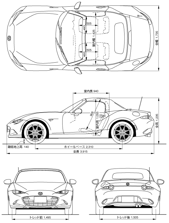 Roadster.Blog: MX-5 Exterior Design