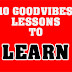 10 Goodvibes Lessons to Learn