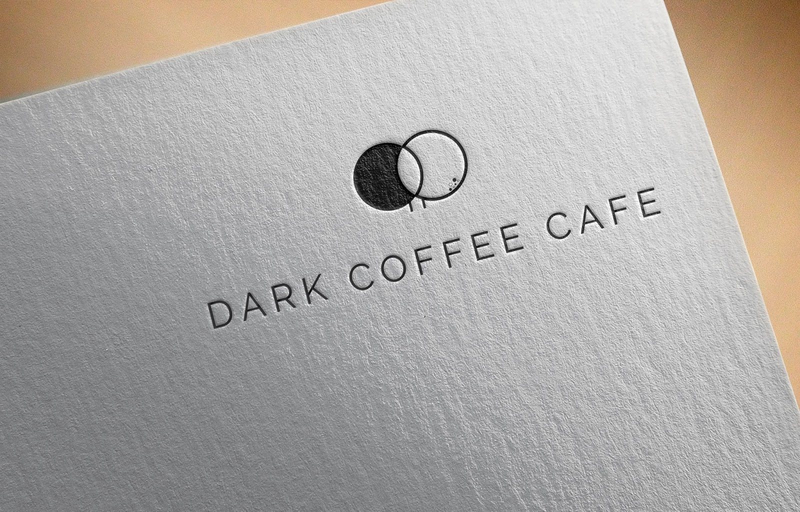 Dark Coffee Cafe Logo Idea
