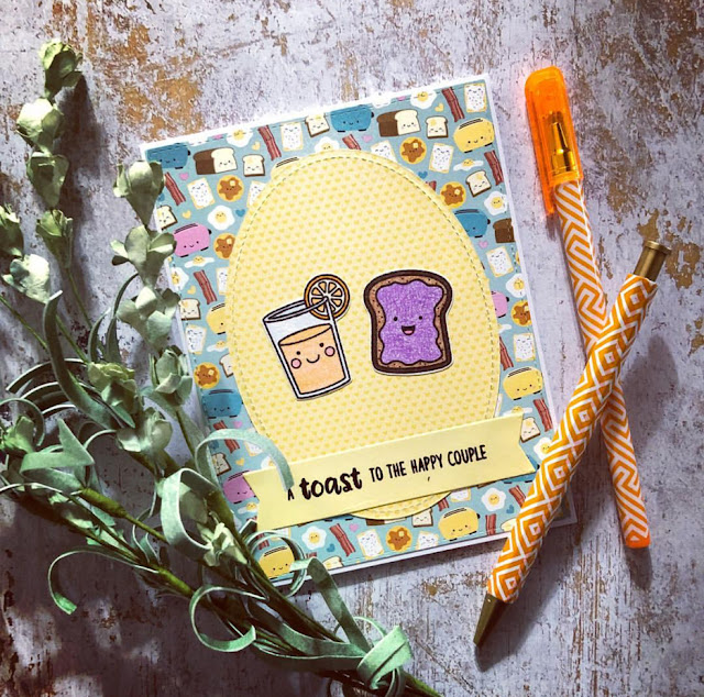 Sunny Studio Stamps: Breakfast Puns Customer Card Share by The Paper Pickle