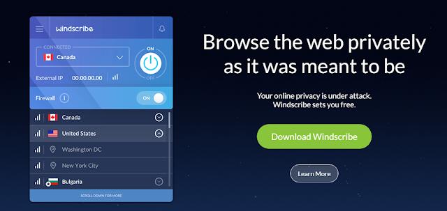 تعرف على Windscribe ... برنامج VPN و مانع إعلانات إحترافي في آن واحد