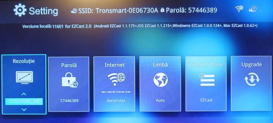 EZCast OTA 11601 firmware upgrade on Tronsmart T1000 ~ flash rom