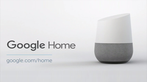 The Google Home connected speaker.
