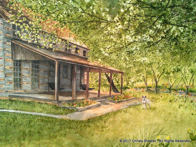 A closer view of The Ivy Ranch on the Brazos River by Christy Sheeler