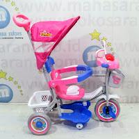 family Police musik sepeda roda tiga anak