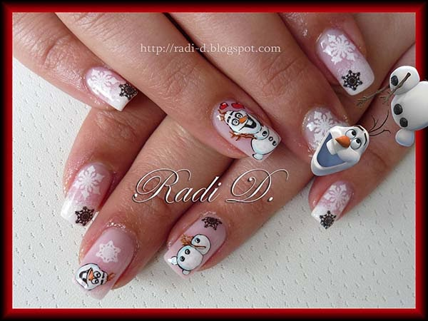 It`s all about nails: Frozen`s Olaf
