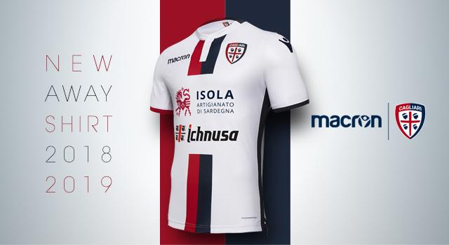 e7adc7867b5 Cagliari Calcio e Macron kit away 18 19