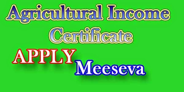 Agricultural Income Certificate On Meeseva