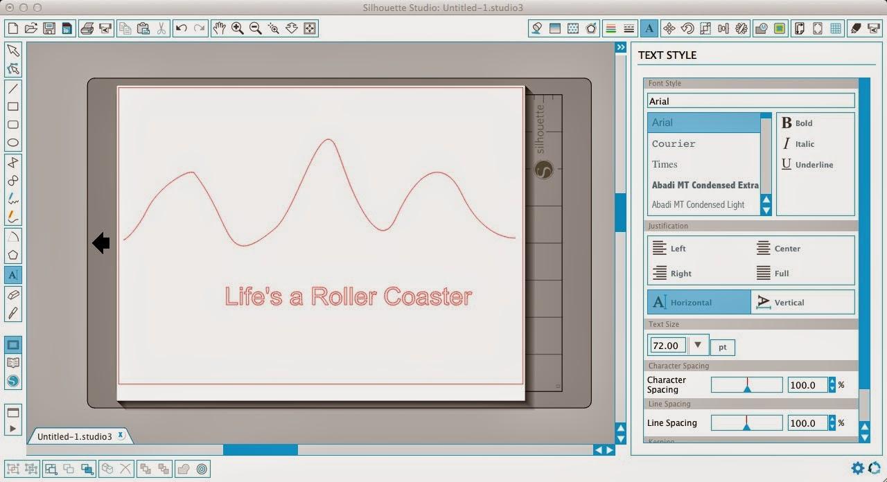 Wavy text, Silhouette Studio, Silhouette tutorial