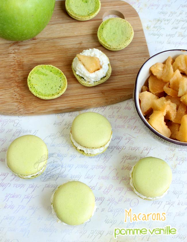 recette macarons pomme vanille