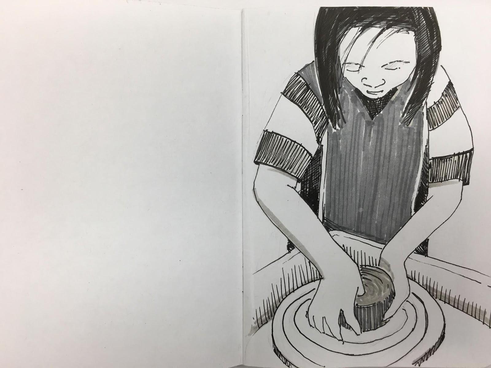 Kristen Applebee Sketchbook Project Seeing Through Blind Eyes