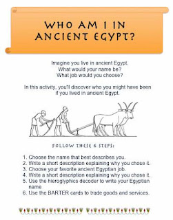 Common Core Lesson Plan Activity Ancient Egypt