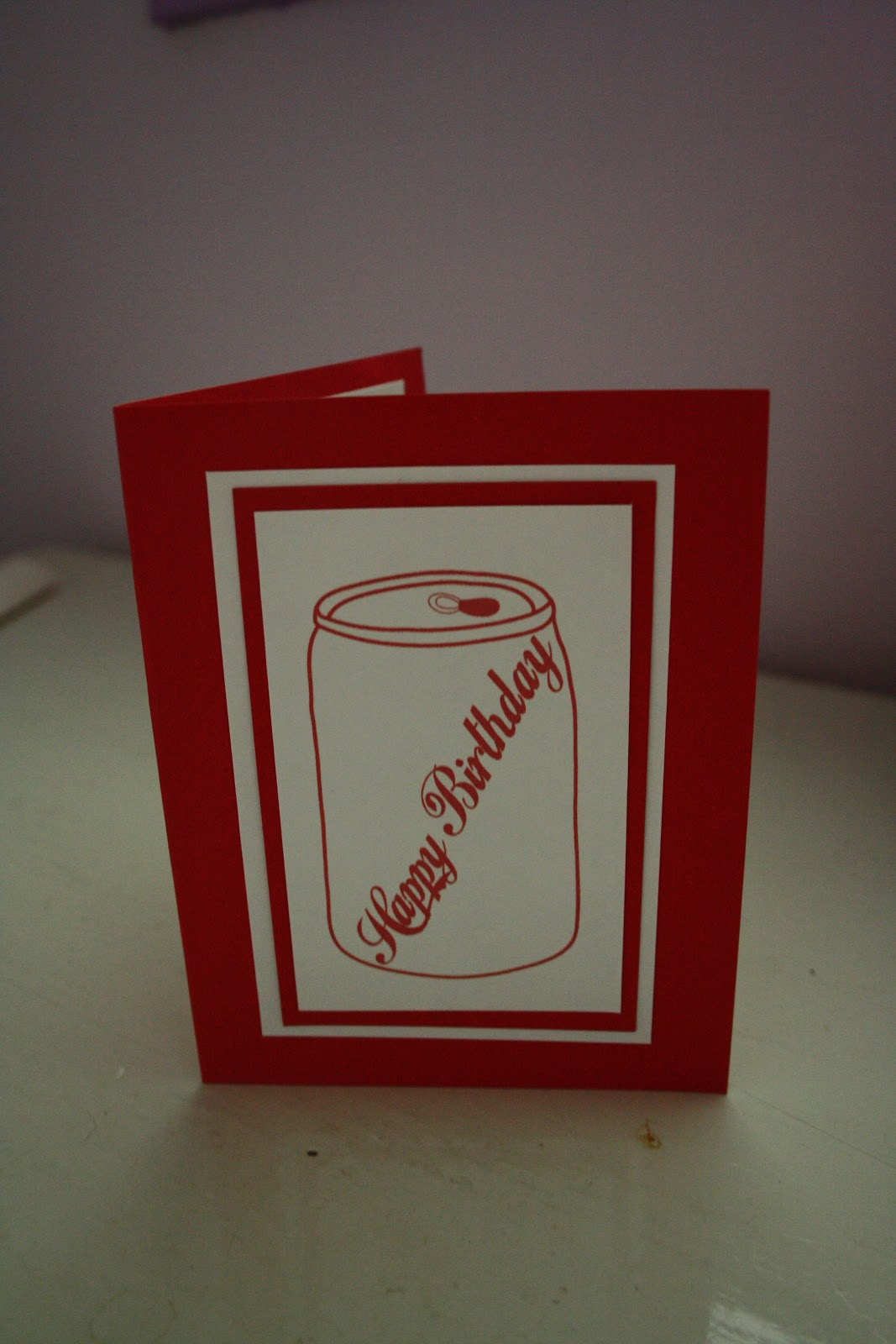 Brilliant Like Fireflies: Coca-Cola Birthday Card