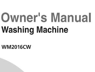 LG WM2016CW Manual