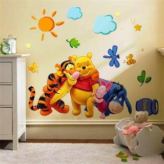 Gambar Wallpaper Dinding Winnie the Pooh Terbaru dan Lucu 2001610