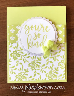 Stampin' Up! 2017-2019 In Color Notes of Kindness Cards ~ Lemon Lime Twist ~ www.juliedavison.com