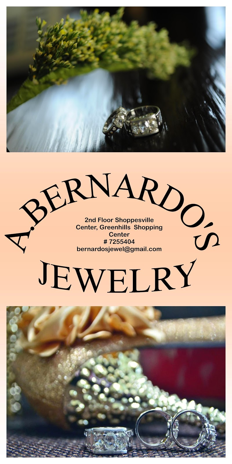 Have your wedding bands created by A. Bernardo's Jewelry!